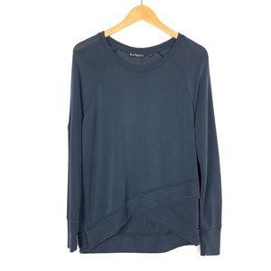 Athleta Serenity Criss Cross Sweatshirt Med Blue